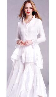 Jerry T 7151-WHT ( 2pc Ladies Dress )