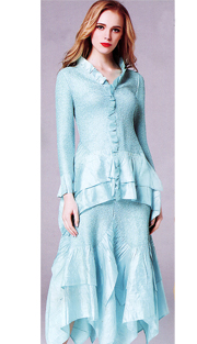 Jerry T 7151-AQ ( 2pc Ladies Dress )