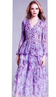 Jerry T 7166-PF ( 2pc Ladies Dress )