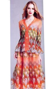 Jerry T 7166-OF ( 2pc Ladies Dress )