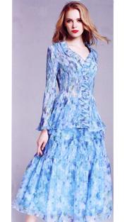 Jerry T 7166-BF ( 2pc Ladies Dress )
