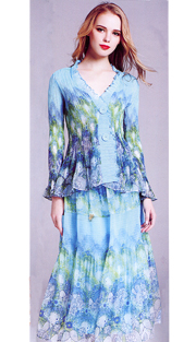 Jerry T 7166-AF ( 2pc Ladies Dress )