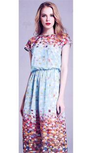 Jerry T 7157-AQ ( 1pc Ladies Dress )