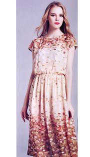 Jerry T 7157-CR ( 1pc Ladies Dress )