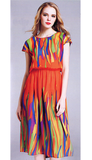 Jerry T 7157-OR ( 1pc Ladies Dress )