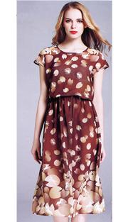 Jerry T 7157-BR ( 1pc Ladies Dress )