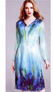 Jerry T 7163-AQ ( 1pc Ladies Dress )