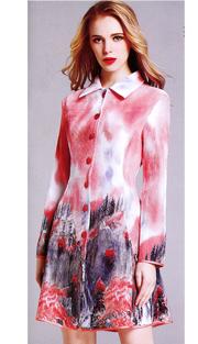Jerry T 7164-PF ( 1pc Ladies Dress )