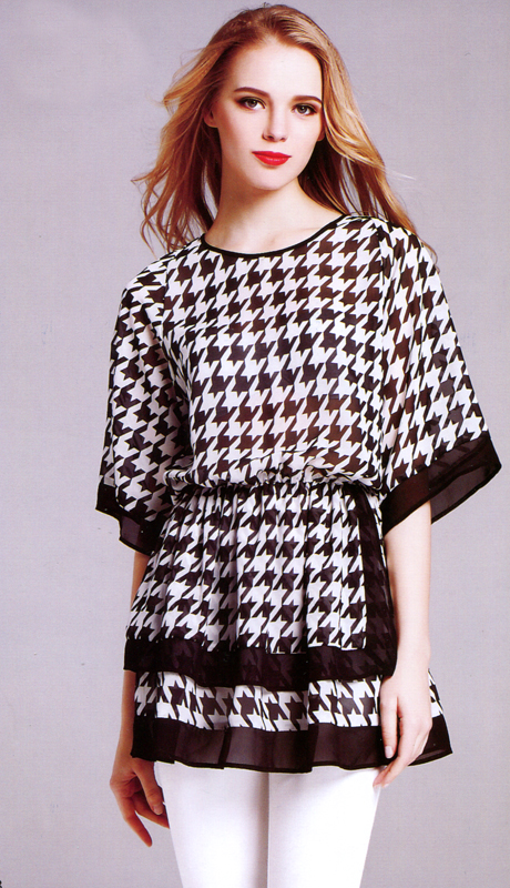 Jerry T 7150-BW ( 1pc Ladies Blouse )