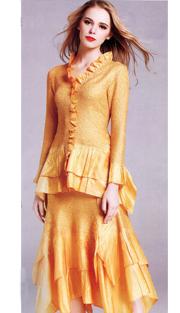Jerry T 7151-GO ( 2pc Ladies Dress )