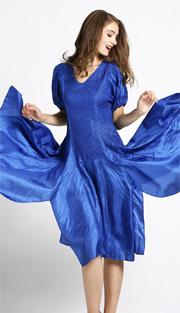 Jerry T 7171-BLU ( 1pc Ladies Dress With Open Shoulder )