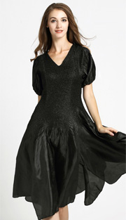 Jerry T 7171-BLK ( 1pc Ladies Dress With Open Shoulder )