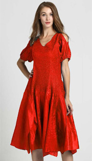 Jerry T 7171-RE ( 1pc Ladies Dress With Open Shoulder )