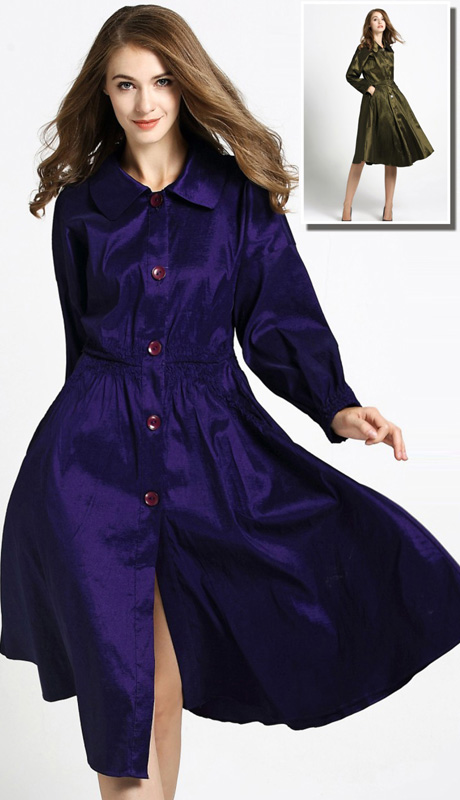 Jerry T 7175 ( 1pc Ladies Long Buttoned Jacket Dress )