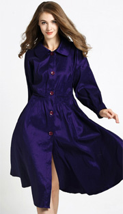 Jerry T 7175 ( 1pc Ladies Long Buttoned Jacket Dress )