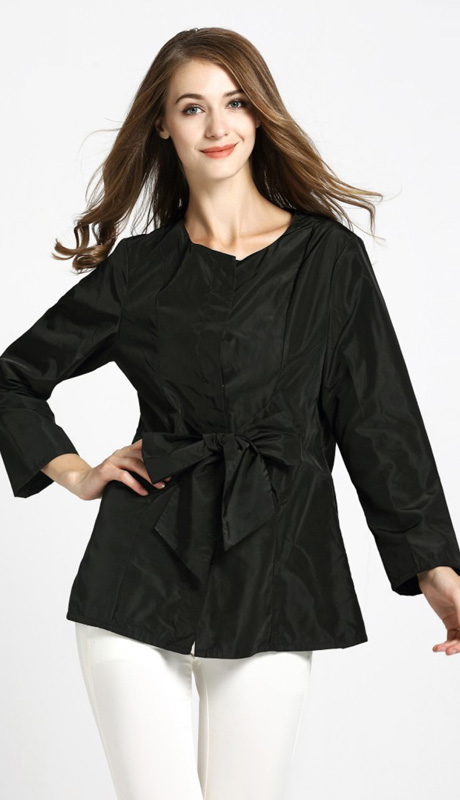 Jerry T 7178-BLK ( 1pc Ladies Blouse With Bow )