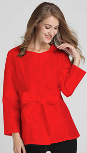 Jerry T 7178-RE ( 1pc Ladies Blouse With Bow )