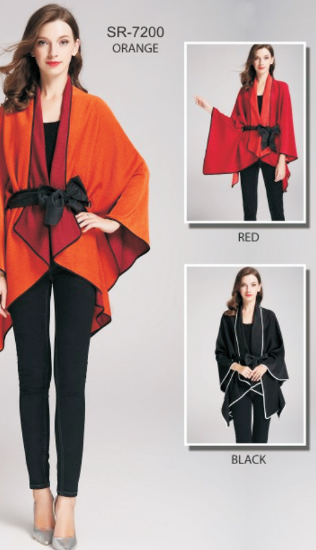 Jerry T SR-7200-OR ( 1pc Orange Tie-Waist Cape )
