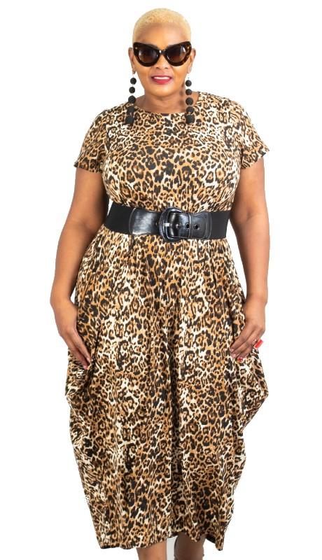 KaraChic CHH20002 ( 1pc Knit Print Maxi Dress )