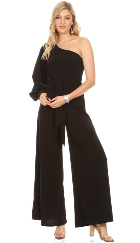 Karen T Designs 2014 ( 1pc One Split Sleeve Wide Leg Jumpsuit )