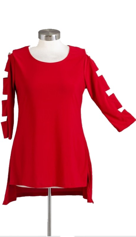 Karen T Designs 2038 ( 1pc Cutout Bar Sleeve Tunic )