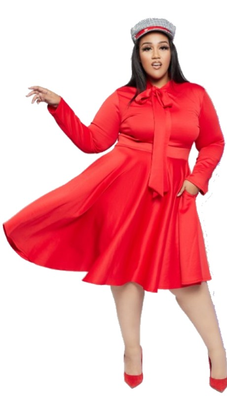 Karen T Designs 2051 ( 1pc Long Sleeve Bow Dress )