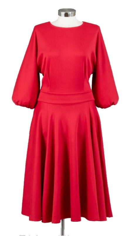 Karen T Designs 2067 ( 1pc Dolman Sleeve Drop Waist Dress )