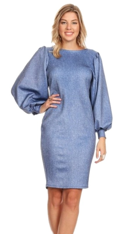 Karen T Designs 5014 ( 1pc Puff Sleeve Dress )