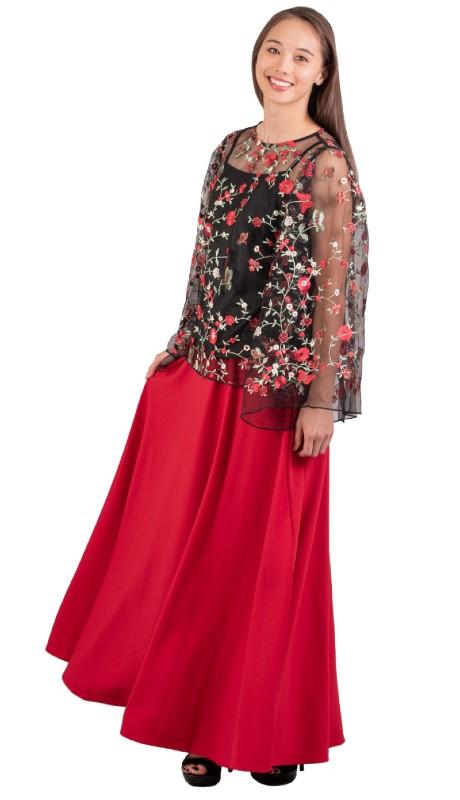 Karen T Designs 5020S ( 1pc Elastic Waist Maxi Skirt )
