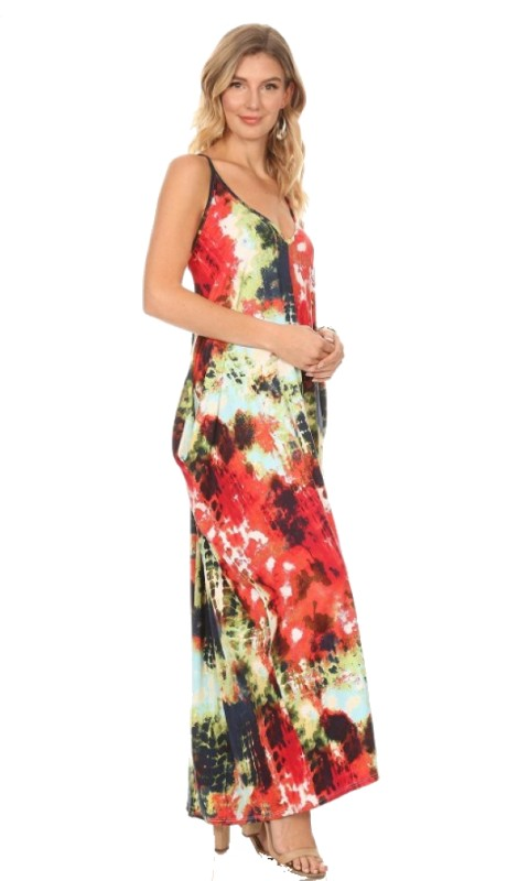 Karen T Designs 5035T ( 1pc Tie Dye Maxi Dress )