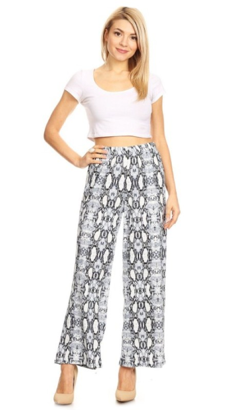 Karen T Designs 5039 ( 1pc Elastic Waist Knit Wide Leg Pant )