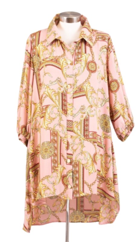Karen T Designs 5061 ( 1pc Print Tunic Top )
