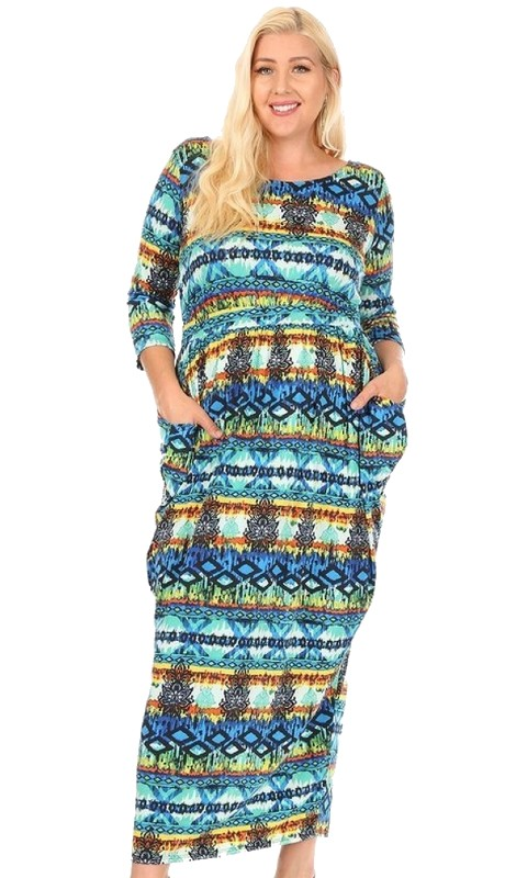 Karen T Designs 5143 ( 1pc Maxi Dress )