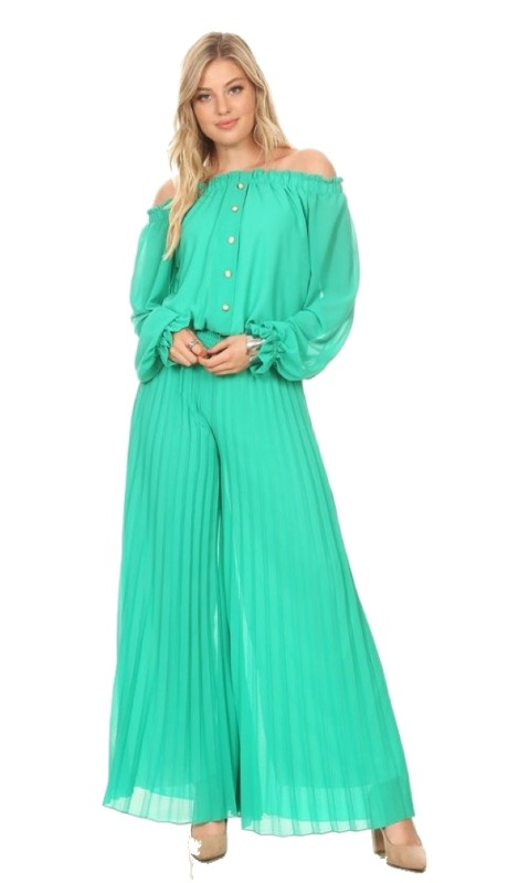 Karen T Designs 7007 ( 2pc Pleated Jumpsuit )