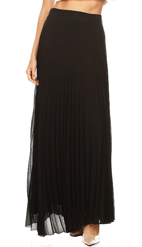 Karen T Designs 7008 ( 1pc Elastic Waist Pleated Maxi Skirt )