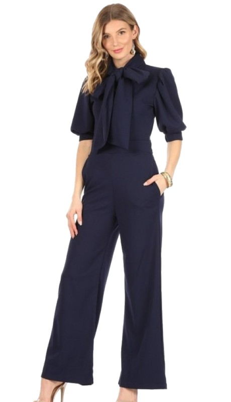 Karen T Designs 8030 ( 1pc Bow Jumpsuit )