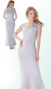 Kayla Dress 5129-SIL ( 1pc Knit Ladies Dress For Church )