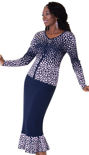 Tally Taylor 5157-NA ( 2pc Knit Set With Rhinestone On Collar Charming Dalmatian Print And Jeweled Zipper Pull )