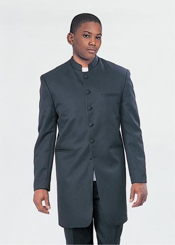 Boys Church Suit BL915-F ( 2pc Six Button, Mandarin Collar On Long Jacket And Pant )