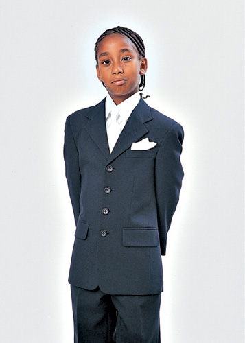 Boys Church Suit BL907A-F ( 2pc Single Breasted, Four Button, Solid Jacket And Pant )