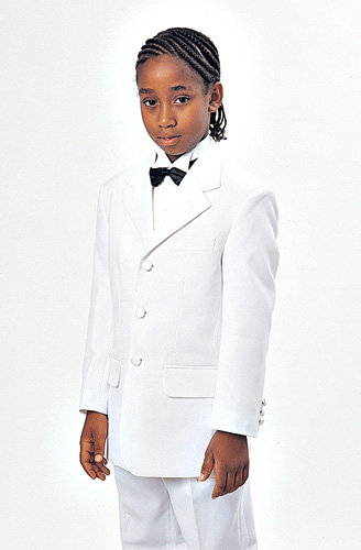 Boys Church Suit BL-T907-F ( 2pc Single Breasted, Three Button, Solid Jacket And Pant )