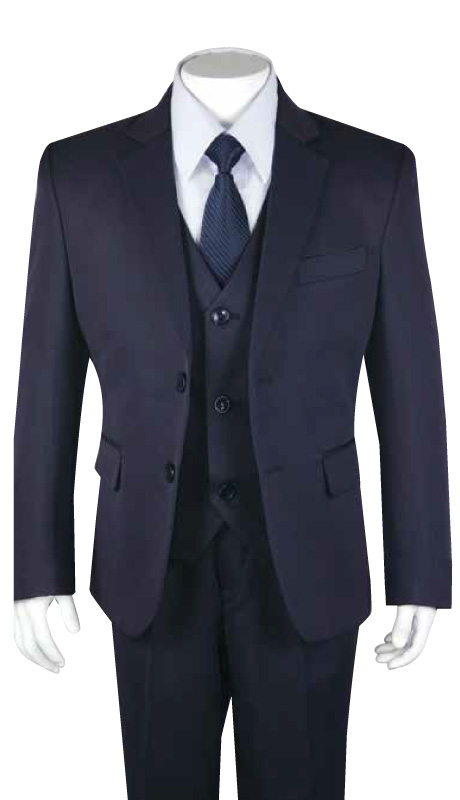 Boys Church Suit B-170-NA ( 5pc Two Button With Vest )