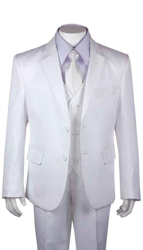 Boys Husky Church Suit  HB-170-WH