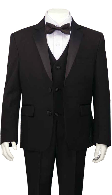 Boys Tuxedo TXB-160 ( 5pc Single Breasted With Vest )