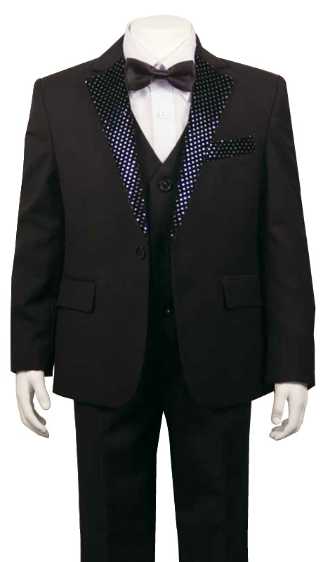 Boys Tuxedo TXB-1601 ( 5pc Single Breasted With Vest )