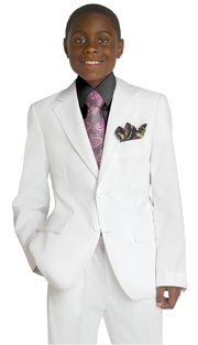 Boys Suit B4775 ( 2 Piece, 2 Button, Flat Front Pant, Solid Suit, Also Available In Mens M1938 )