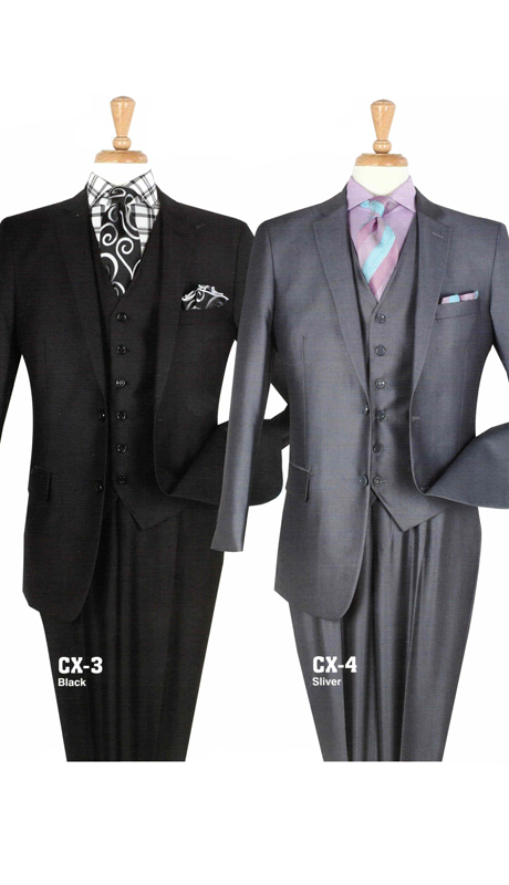 Iconic CX-3 ( 3pc Mens Suit With Semi Wide Leg Pants )
