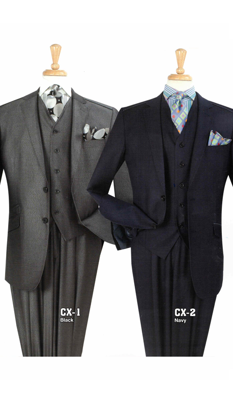 Iconic CX-1 ( 3pc Mens Suit With Semi Wide Leg Pants )