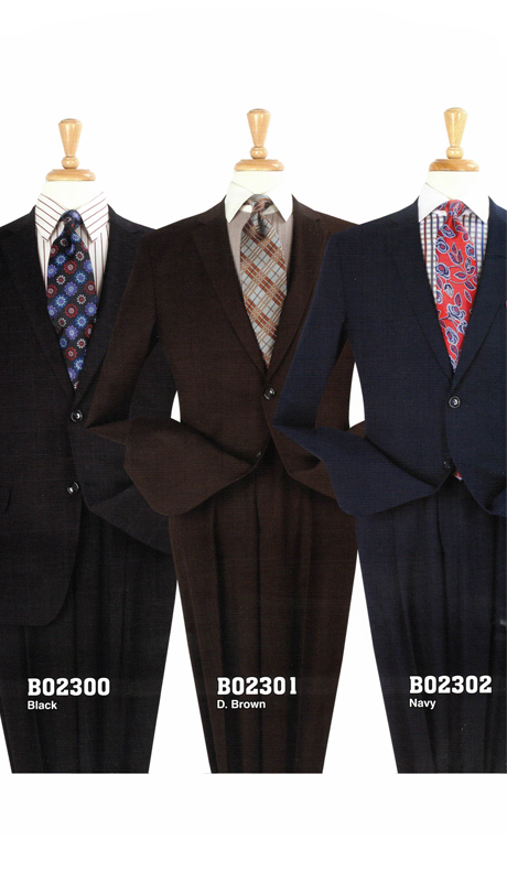 Iconic B02300 ( 2pc Classic Mens Suit With Pleated Pants )