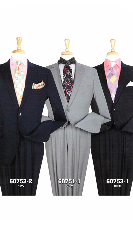 Iconic 60751-1 ( 2pc Classic Mens Suits With Pleated Pants )